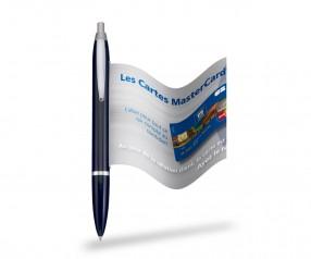 Info Pen 1101 Classic Kugelschreiber incl. 4c Druck auf Werbefahne, BLACK