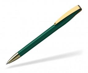 Klio COBRA high gloss MMg 41038 Kugelschreiber goldfarben I dunkelgrün