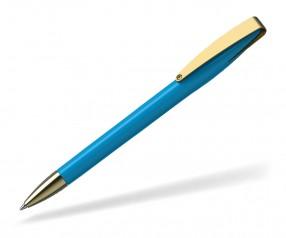 Klio COBRA high gloss MMg 41038 Kugelschreiber goldfarben TQ cyan