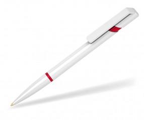 Klio Kugelschreiber EURO R U H weiss rot