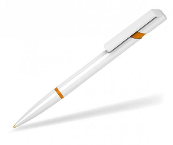 Klio Kugelschreiber EURO R U W weiss orange