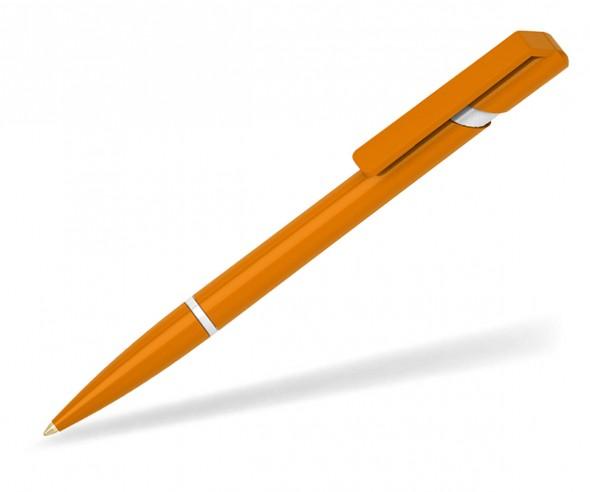 Klio Kugelschreiber EURO R W U orange weiss