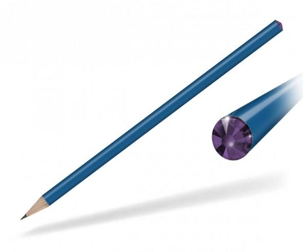 Reidinger Kristall Bleistift Werbegeschenk blau Amethyst
