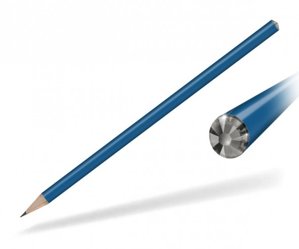 Reidinger Kristall Bleistift Werbegeschenk blau black diamond
