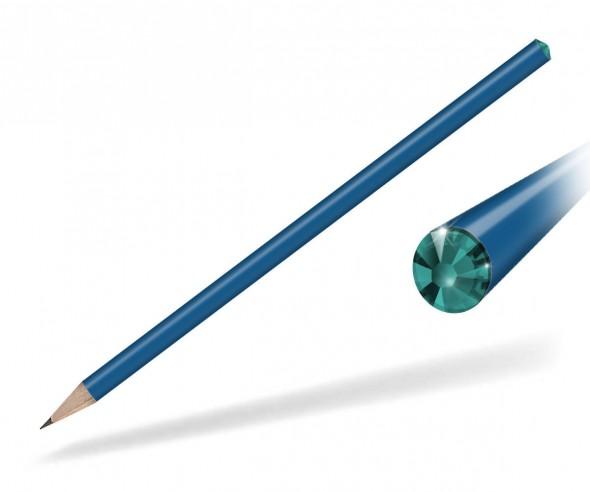 Reidinger Kristall Bleistift Werbegeschenk blau blue zircon