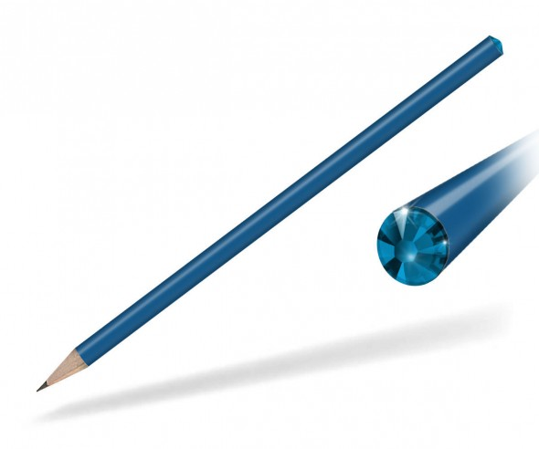 Reidinger Kristall Bleistift Werbegeschenk blau capri blue