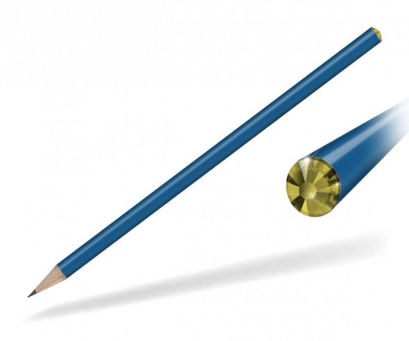 Reidinger Kristall Bleistift Werbegeschenk blau citrine