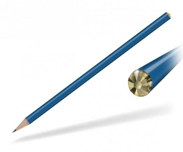 Reidinger Kristall Bleistift Werbegeschenk blau light colorado topaz