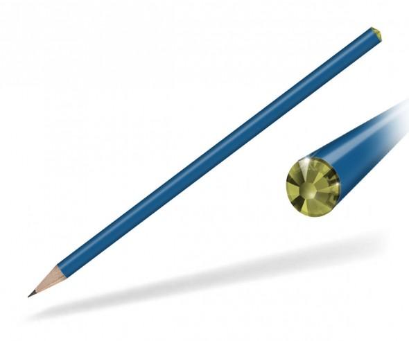 Reidinger Kristall Bleistift Werbegeschenk blau oviline