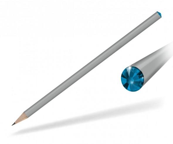 Reidinger Kristallbleistifte Werbemittel grau capri blue