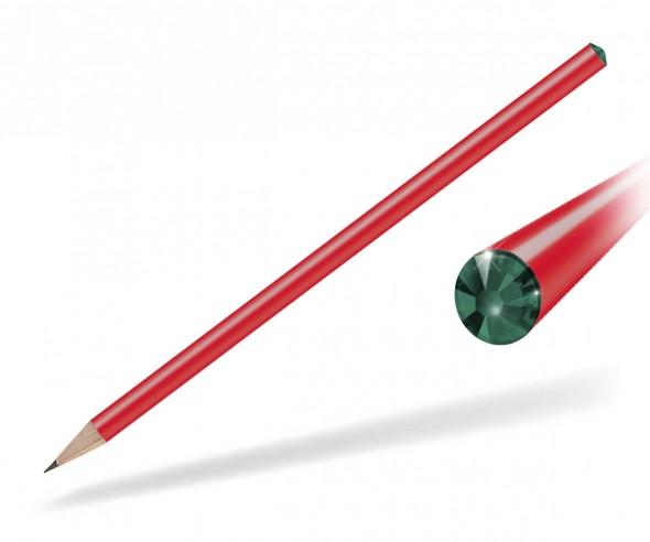 Reidinger Kristall Bleistift Präsent rot emerald