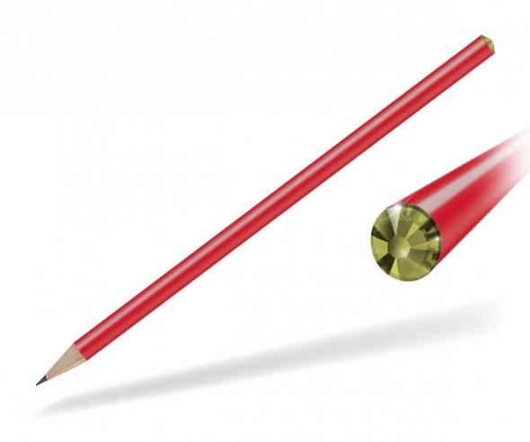 Reidinger Kristall Bleistift Präsent rot oviline
