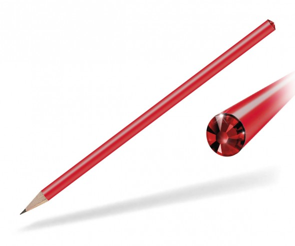 Reidinger Kristall Bleistift Präsent rot siam