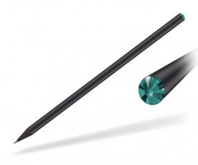 Reidinger Kristall Bleistift Werbeartikel schwarz durchgefärbt blue zircon