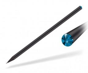 Reidinger Kristall Bleistift Werbeartikel schwarz durchgefärbt capri blue
