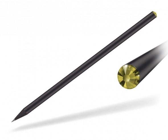 Reidinger Kristall Bleistift Werbeartikel schwarz durchgefärbt citrine