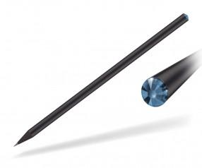 Reidinger Kristall Bleistift Werbeartikel schwarz durchgefärbt sapphire