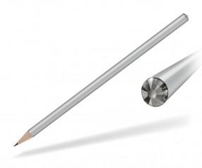 Reidinger Kristall Bleistift mit Werbedruck silber black diamond
