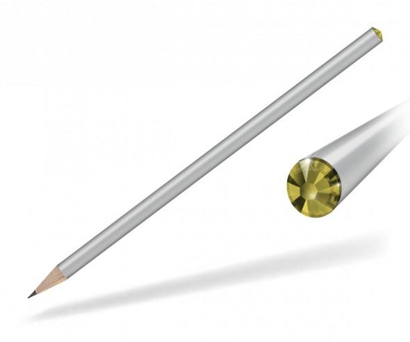 Reidinger Kristall Bleistift mit Werbedruck silber citrine