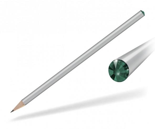 Reidinger Kristall Bleistift mit Werbedruck silber emerald