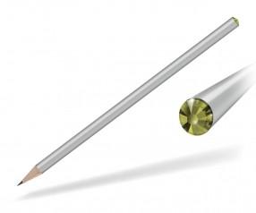 Reidinger Kristall Bleistift mit Werbedruck silber oviline