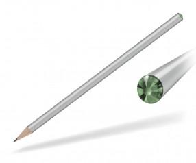 Reidinger Kristall Bleistift mit Werbedruck silber peridot