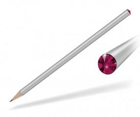 Reidinger Kristall Bleistift mit Werbedruck silber ruby