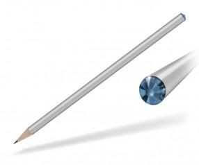 Reidinger Kristall Bleistift mit Werbedruck silber sapphire