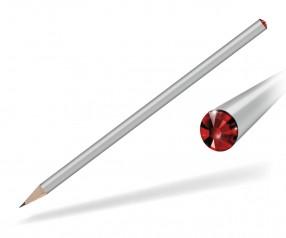 Reidinger Kristall Bleistift mit Werbedruck silber siam
