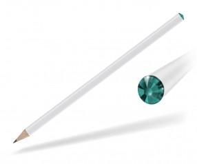 Reidinger Kristall Bleistift Promotionartikel weiss blue zircon