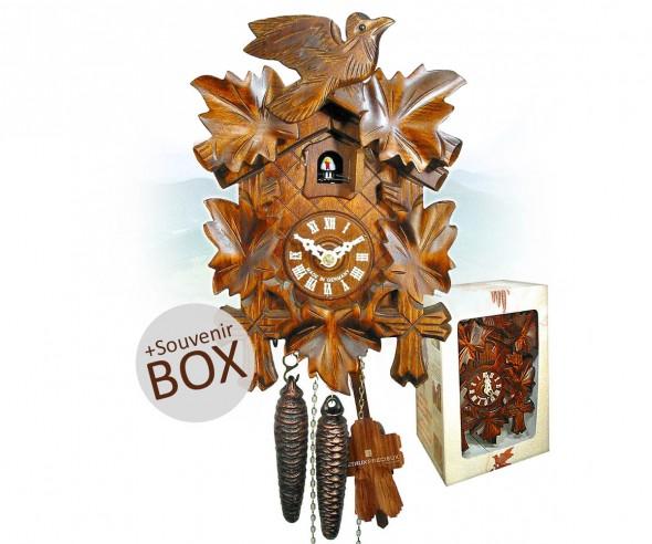 Kuckucksuhr als Werbegeschenk in Box mit Logo bedrucken 8491004