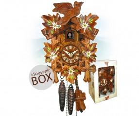Kuckucksuhr Edelweiß Werbeartikel in Geschenkverpackung 8491041