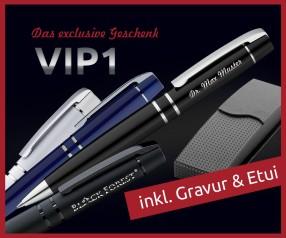 UMA VIP1 Express-Kugelschreiber inkl. Einzelnamen-Gravur und Etui ab 10 Stück