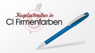 Kugelschreiber in CI Firmenfarben: Hausfarben und Sonderfarben - Werbekugelschreiber individuell eingefärbt