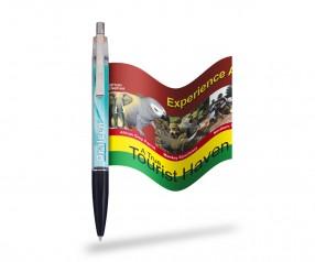 Fahnenkugelschreiber Info-Pen 1103 Regular inkl. ausrollbarem Flyer, KLAR
