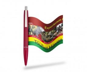 Flag-Kugelschreiber Info-Pen 1103 Regular inkl. ausrollbarem Banner, ROT