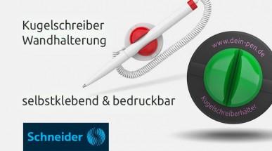 Selbstklebende Wandhalterung für Werbekugelschreiber mit Ihrem Logo