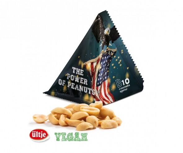 Ültje Erdnüsse Peanuts vegan im Tetraeder Werbung mit Druck