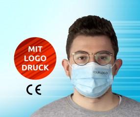 MNS Mund-Nasen-Maske bedruckbar, Gesichtsmaske mit Logo Atemmaske