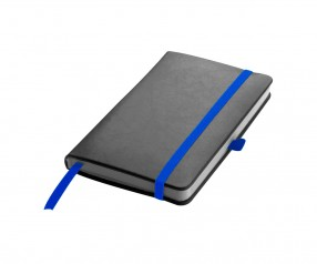 Notizbuch Werbeartikel DIN A6 STANDARD schwarz blau