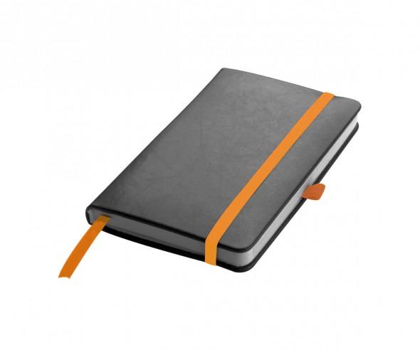 Notizbuch Werbeartikel DIN A6 STANDARD schwarz orange