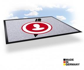 Werbematte mit Werbedruck für Fussboden - NOVUS IMAGE 100 x 200 cm