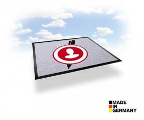 Teppichmatte mit Druck - NOVUS IMAGE 75 x 85 cm