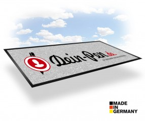 Logomatte gestalten und bedrucken Hochflor - NOVUS IMAGE 115 x 240 cm
