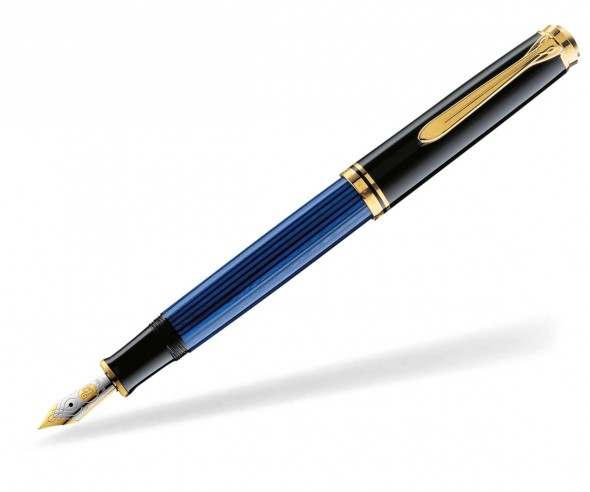Pelikan Premium Serie 400 Souverän Füllhalter schwarz blau