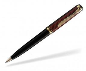 Pelikan Premium Serie 800 Souverän Kugelschreiber schwarz rot