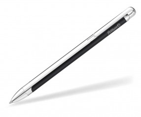 Pelikan Kugelschreiber VIO silber schwarz