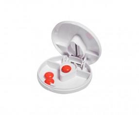 Tablettenteiler Werbeartikel 4017 rund mit Logo Druck weiss