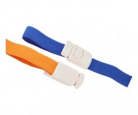 Venenstauer Stauschlauch Stauband 4192 Werbegeschenk mit Logo Druck orange oder blau