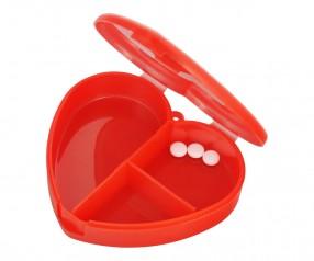 Pillendose Werbegeschenk Tablettendose Herz 4499 Medizin Werbeartikel rot